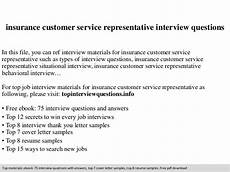 Interview Question And Answers For Customer Service Representative Insurance Customer Service Representative Interview Questions