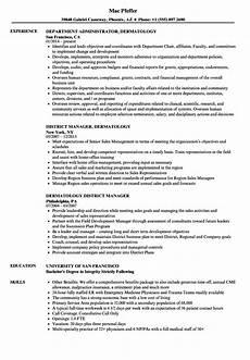 Medical Assistant Dermatology Resume Dermatology Resume Samples Velvet Jobs