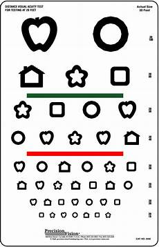 Eye Test Chart For Toddlers 8 Line Patti Pics Color Test Visual Acuity Chart