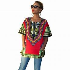 Dashiki Tops Designs Lady African Dashiki Printed T Shirt Summer Style Short