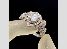 Vera Wang White Gold W Love Collection 1 Ct. T.w. Pear