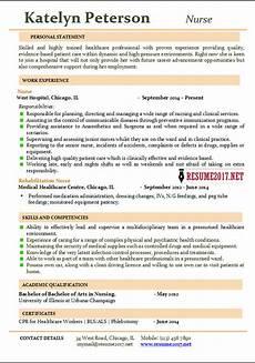 Nurse Resume Nurse Resume 2017 Examples