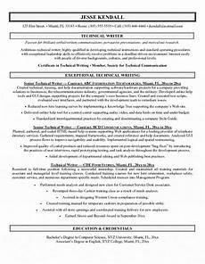 Resumes For Writers Technical Writer Resume