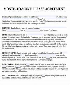 Room Rental Agreement Month To Month Month To Month Lease Agreement Template Business