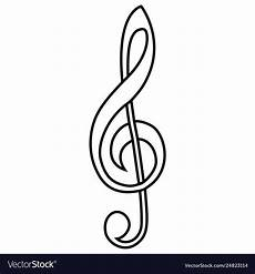 Treble Sign Musical Sign Treble Clef Calligraphy Treble Clef Vector Image