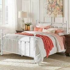 vecelo white metal bed frame