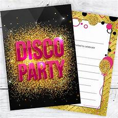 Disco Party Invitations Disco Party Invitations Girls Pink And Gold Style