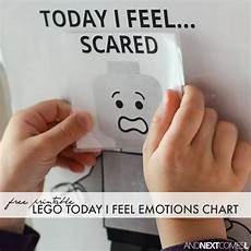 Lego Feelings Chart Free Printable Lego Quot Today I Feel Quot Emotions Chart And
