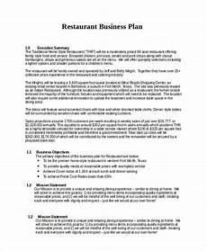 Restaurant Business Plan Examples 26 Business Plans Free Sample Example Format Free