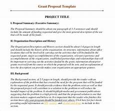 Proposal Writing Sample Grant Writing Template 8 Free Word Pdf Ppt Documents
