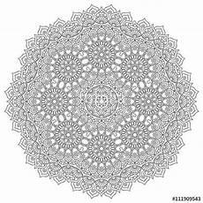 Indianische Muster Malvorlagen Vektor Vektorindisches Mandala Coloring Stock Images