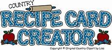 Online Recipe Book Creator Recipe Card Creator Some Free Clipart Recipe Cards