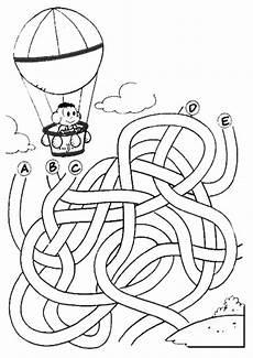 labyrinthe 7 ausmalbilder und basteln mit kindern