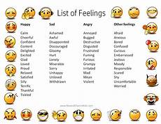 Mood Behavior Chart Feelings Chart