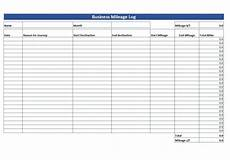 Mileage Spreadsheet For Taxes Simple Mileage Log Free Mileage Log Template Download