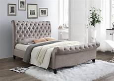 limelight larrisa mink velvet fabric bed frame from the