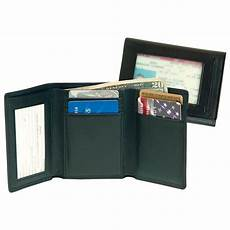 tri fold windows men s royce leather 174 tri fold wallet with double id