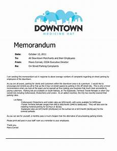 Sample Of Memoranda Parking Memorandum