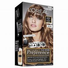 Glam Hair Color Light Brown Buy L Oreal Preference Glam Lights 03 Light Brown To Dark
