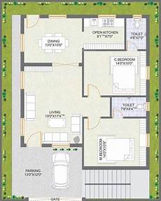 praneeth pranav floor plan 2bhk 2t west facing sq