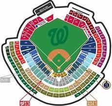 Washington Wizards Seating Chart With Rows Seating Map Washington Nationals