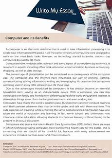 Essay Computer Technology Professional Essay On Computer Assistance
