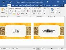 place card template on word how to make printable place cards in word