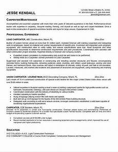 Carpentry Resume Sample Carpenter Resume Objective Samples Resume Resume