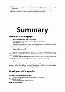 Examples Of A Summary Essay Essay Intro Devlp Concl