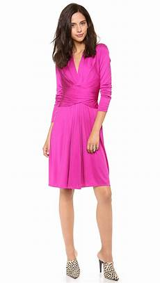 issa sleeve wrap dress in pink verbena lyst