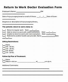 Return To Work Note Template Return To Work Doctors Note Template Template Business