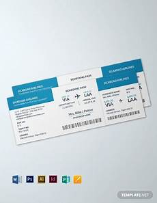 Blank Airline Ticket Template 375 Free Ticket Templates In Microsoft Publisher