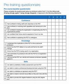 Training Needs Questionnaire Template Free 8 Training Questionnaire Examples Amp Samples In Pdf