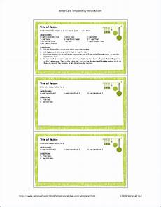 Recipe Card 3x5 Template free printable recipe card template for word