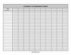 Attendance Sheets Printable Student Attendance Sheet Free Printable