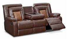 mustang dual reclining sofa with console brown