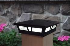 2 Inch Fence Post Lights 6x6 Solar Post Cap Lights 2 Black Aluminum Amp Glass
