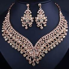 clothes jewelry fashion wedding jewelry shining tassel shaped necklace