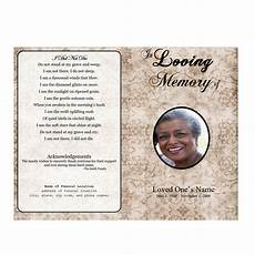 Memorial Pamphlet Template Free Bifold Funeral Program Template