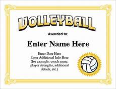 Volleyball Certificate Templates Volleyball Award Certificate Free Award Certificates