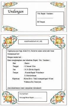 undangan pengajian pamitan haji contoh undangan syukuran kepulangan haji contoh isi undangan