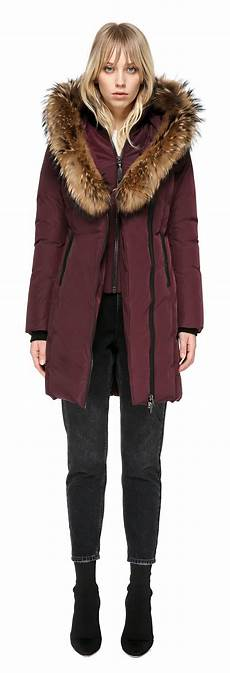 mackage coats for blue fur lyst mackage mid length winter coat with fur