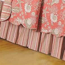 shells bed skirt in coral bed bath beyond