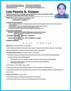 Resume For A Call Center Agent Impressing The Recruiters With Flawless Call Center Resume