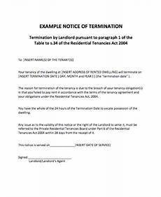 Notice Of Termination Of Contract 47 Eviction Notice Templates Amp Sample Letters Free