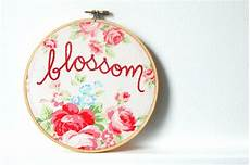 embroidery hoop blossom embroidered 6 inch hoop