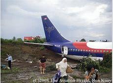 Accident: Sriwijaya Air B732 at Jambi on Aug 27th 2008