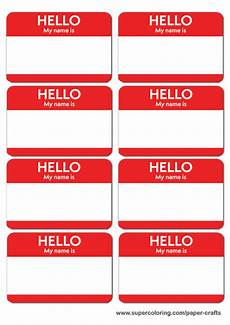Name Badges Templates Red Name Badges Printable Template Free Printable