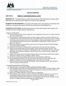 Nursing Supervisor Job Description Dcp Job Description