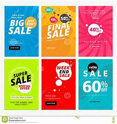 For Sale Templates Set Of Sale Website Banner Templates Stock Vector